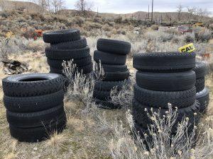 Piles of tires at Barber Pool